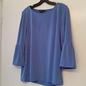 Ellen Tracy blue bell sleeve top